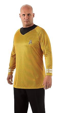 Amazon.com Rubieu0027s Plus-Size Star Trek Into Darkness Deluxe Captain Kirk Shirt With Emblem Gold/Black Plus Costume Clothing  sc 1 st  Amazon.com & Amazon.com: Rubieu0027s Plus-Size Star Trek Into Darkness Deluxe Captain ...