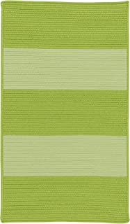 product image for Colonial Mills Newport Textured Stripe Braided Rug, 4' x 6' , Greens