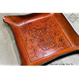 Sugar Skull Embossed Molded Leather Valet Tray (3 sizes available)