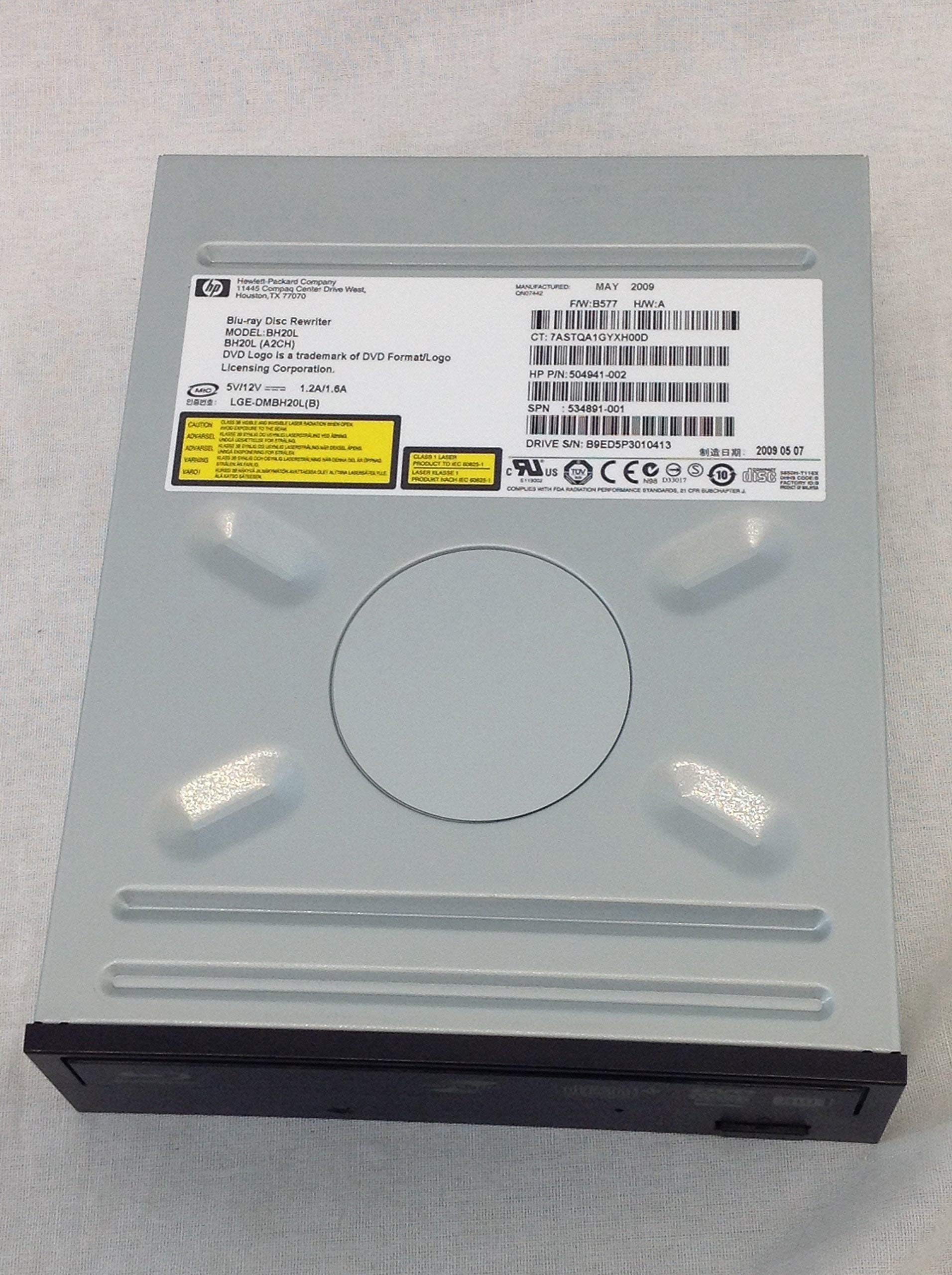 536540-001 504941-001 HP 6X SATA BLURAY DISK WRITER SMD OPTICAL DRIVE(JET BLACK) by HP