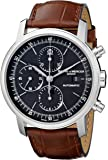 Baume et Mercier Classima Executives Stainless Steel Automatic Chronograph Brown Calfskin Watch 8589