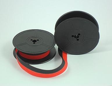 ERIKA GR1 – Cinta de bobina de máquina de escribir de tinta color rojo y negro