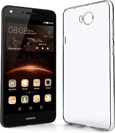 NewTop Cover Compatibile per Huawei Y5 II / Y6 II Compact, Custodia TPU Clear Silicone Trasparente Slim Posteriore
