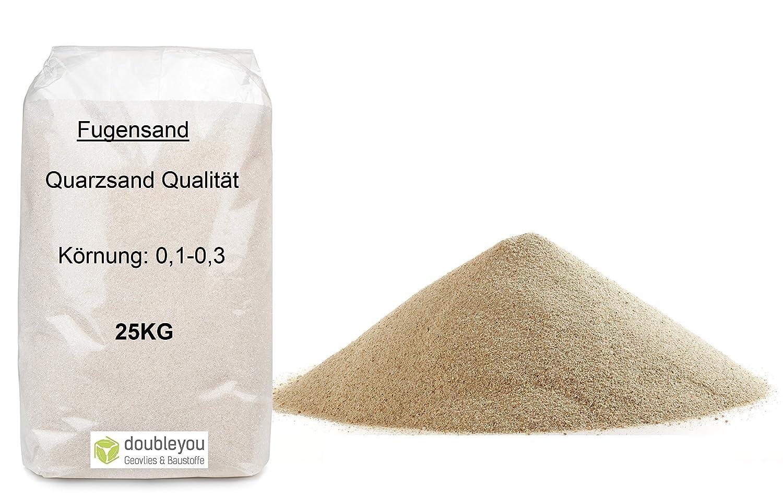 K/örnung w/ählbar 25kg Fugensand Quarzsand 0,1-0,3mm