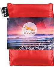 Silkrafox Saco de dormir ultraligero para las excursiones de senderismo, los viajes, las acampadas, seda artificial