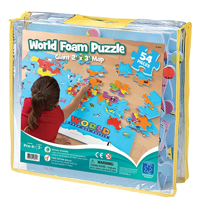 Amazon.com: Educational Insights World Foam Map Puzzle: Toys & Games