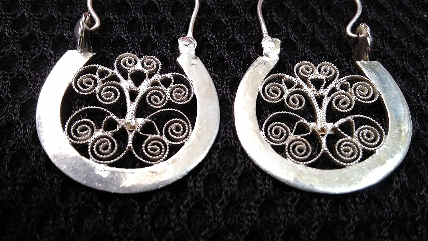 Silver filigree earrings, coastal ARILLOS