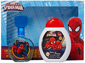 Amazon.com : Marvel Ultimate Spider Man for Kids 2 Piece Gift Set with Edt Spray, Shower Gel and Shampoo : Beauty