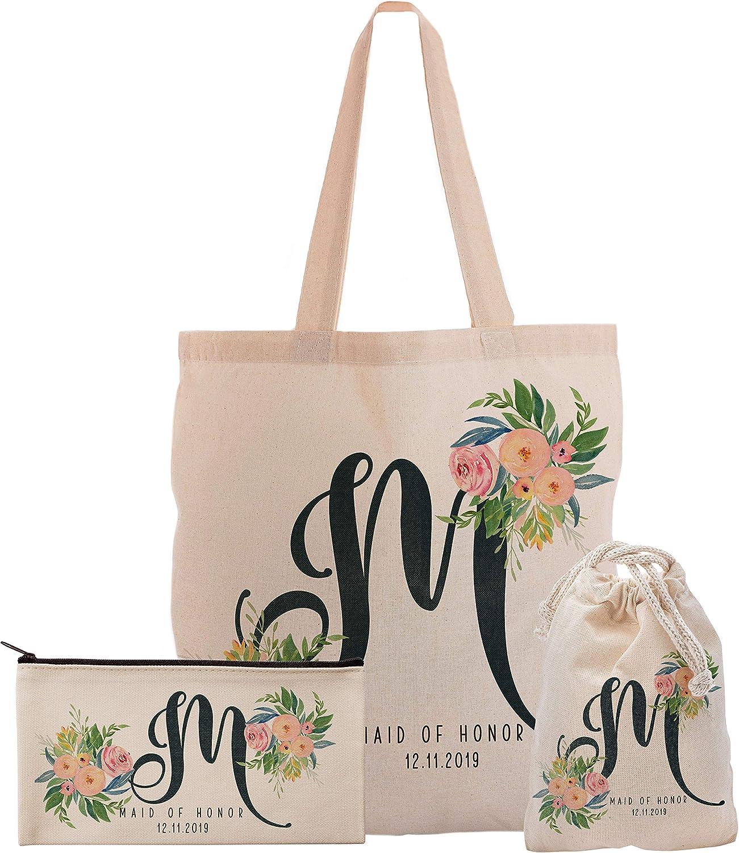 Cabo Bachelorette Personalized Tote Bag  Gold  Silver   Personalized Modern Cabo Bachelorette Birthday Tote Bag