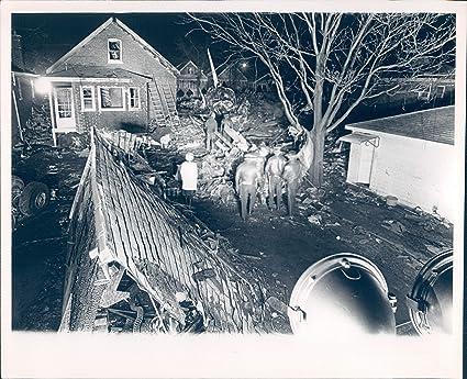 Amazon com: Photo Vintage Debris Ladders Outside Historic Home