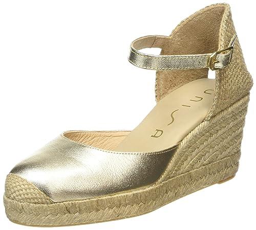 Unisa Caceres Soft Metal - Alpargatas Mujer, color Dorado - Gold (Platino), talla 36: Amazon.es: Zapatos y complementos