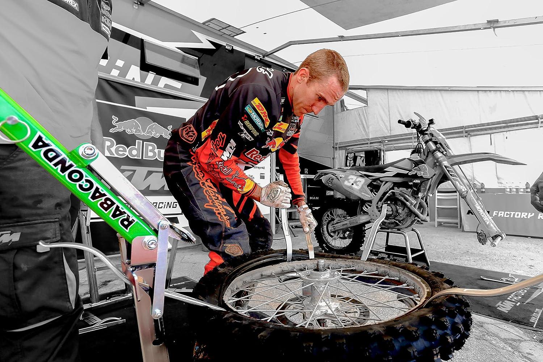 Rabaconda Ensemble de cl/és pour d/émonter les pneus Pour motos enduro et motocross