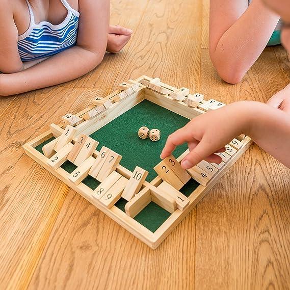 Toyrific Juego de 4 Jugadores Cerrar la Caja de Madera: Amazon.es: Juguetes y juegos