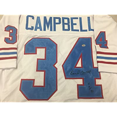 Earl Campbell Autographed Signed Houston Oilers Custom Jersey GTSM Campbell  Hologram 1a2973815