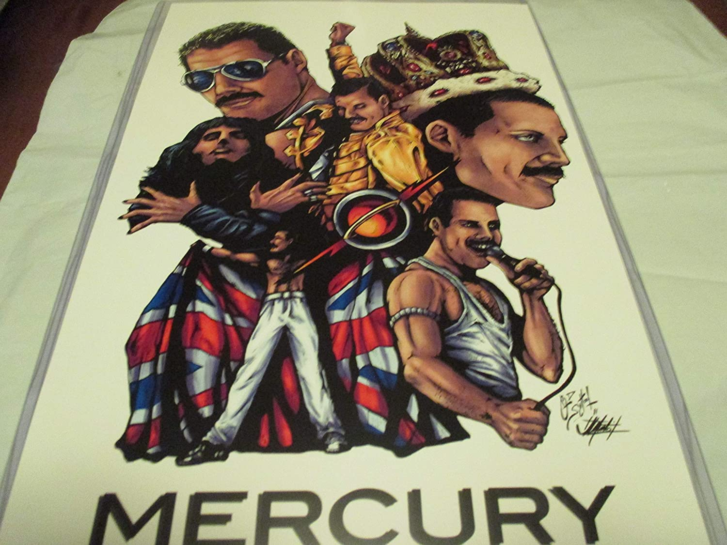 FREDDIE MERCURY COLOR! LIMITED EDITION PRINT 11' By 17' 'THE ART OF OLD SCHOOL 'approved Dealer FREDDIE MERCURY COLOR! LIMITED EDITION PRINT 11 By 17 ' THE ART OF OLD SCHOOL ' approved Dealer