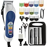 Wahl Clipper Color Pro Complete Hair Clipper Haircut Kit with Extended Accessories & Cape for Men Kids and Babies, by the Brand used by Professionals # 79300-1001