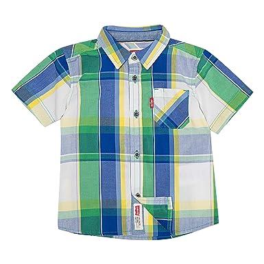 b99ffdd359 Amazon.com  Levi s Boys  Short Sleeve Button Up Shirt  Clothing