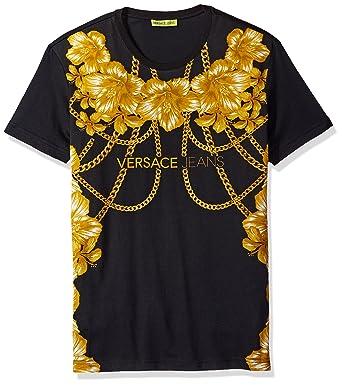 Amazon com: Versace Jeans Men's Gold Chain Versace T-Shirt