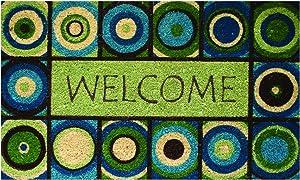 Robert Allen Home & Garden Coir Welcome Circles Doormat
