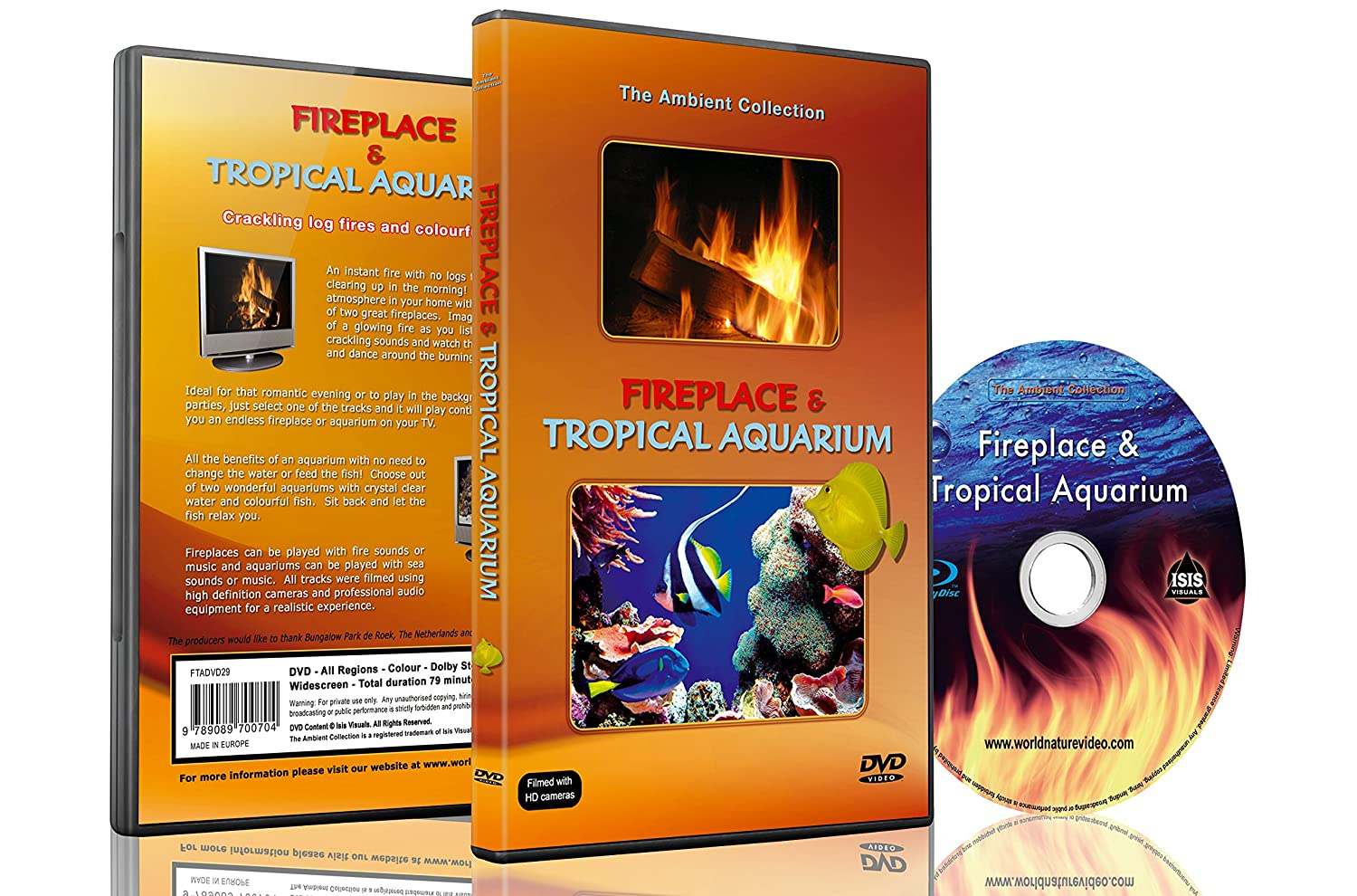 amazon com ambient dvd fireplace and tropical aquarium 2