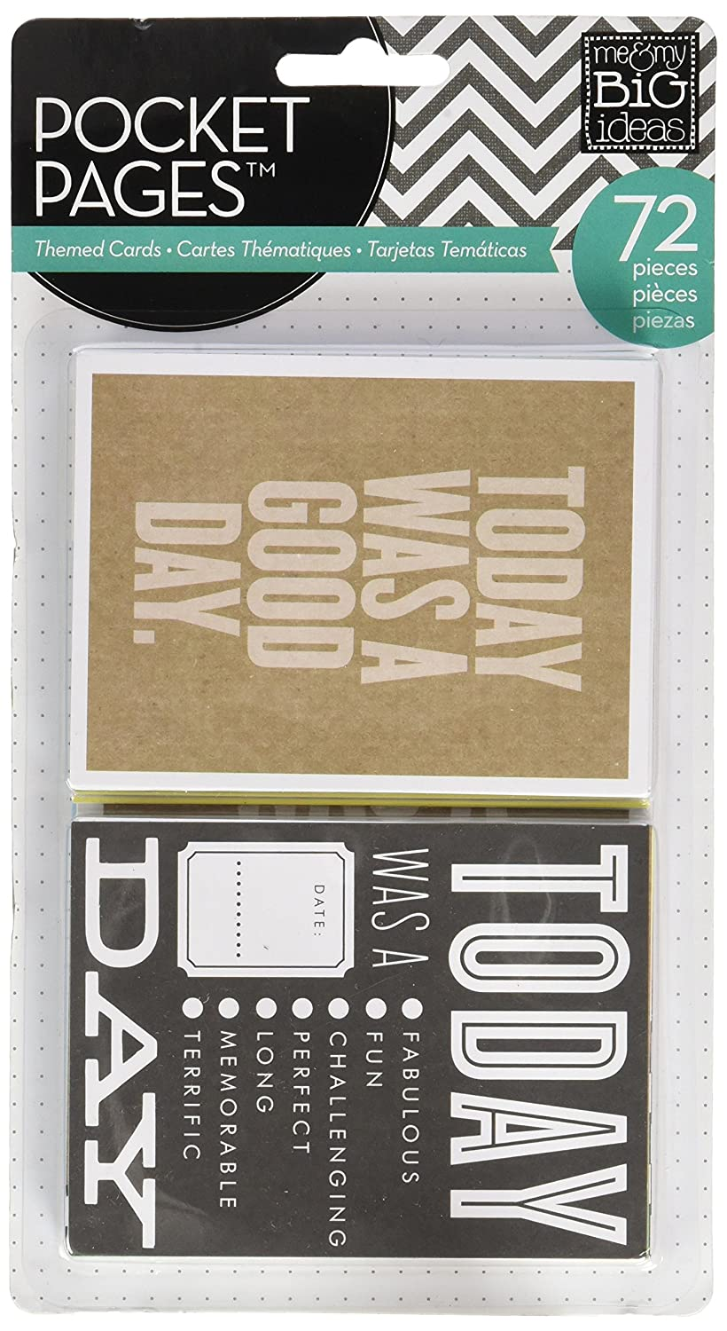 me & my BIG ideas Pocket Pages Journaling Cards, Today TPC-08