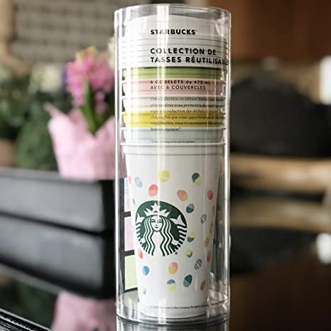 Starbucks Reusable Cup Collection Pack Of 6 W Lids Holiday Spring Easter 2019