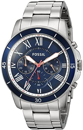 add8253b9ad Amazon.com  Fossil Mens FS5238 Grant Sport Chronograph Stainless Steel Watch   Watches
