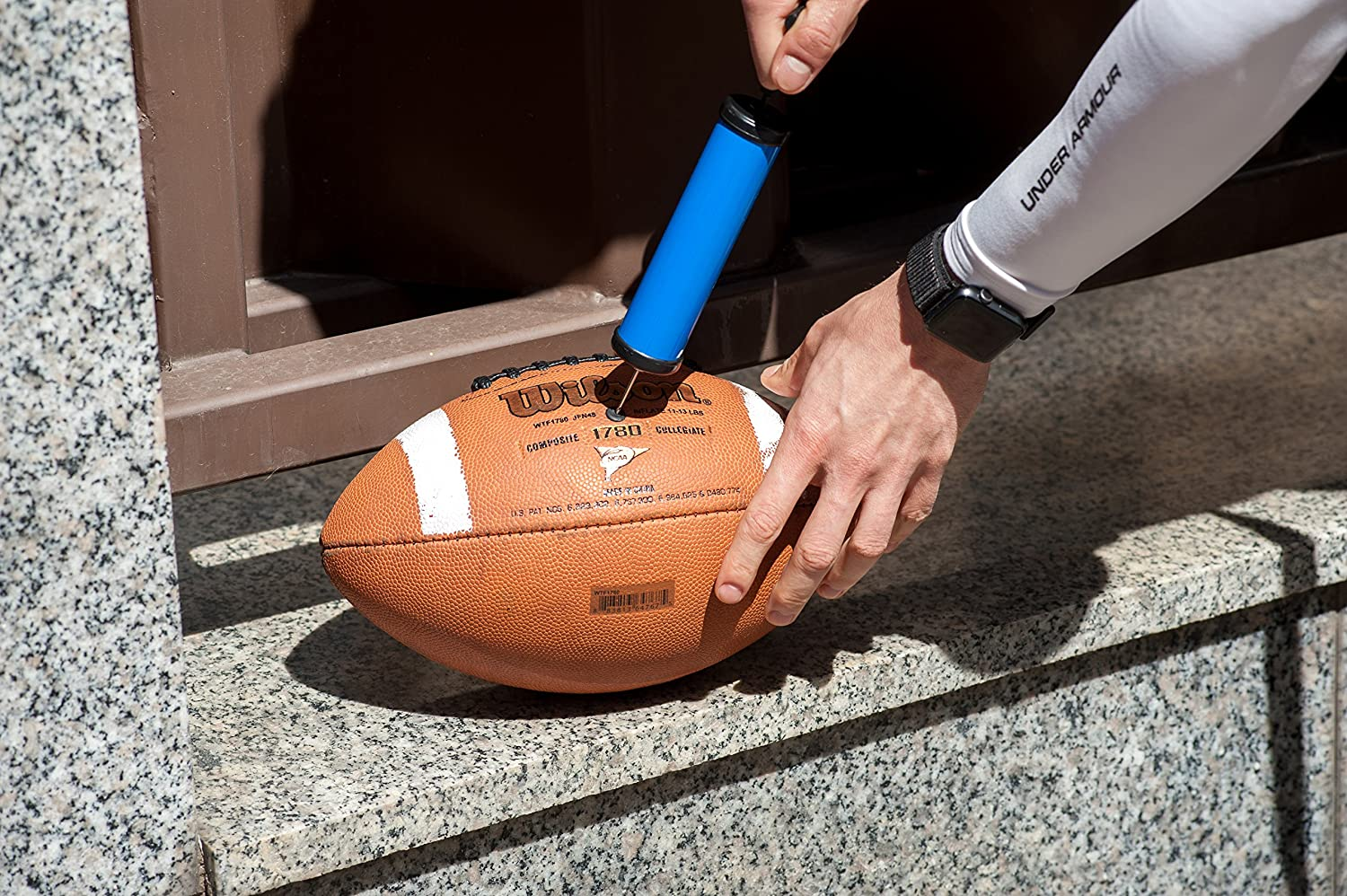 FAST INFLATING HAND AIR PUMP NEEDLE BALL FOOTBALL TOY SPORTS FREE 10PK NEEDLE