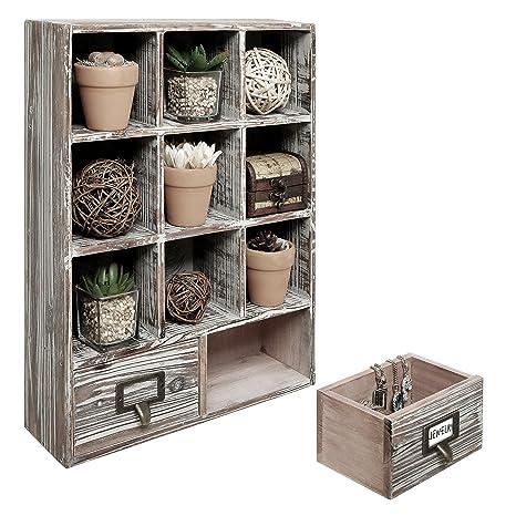amazon com mygift rustic dark brown wood shadow box 13x17 inch rh amazon com