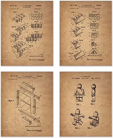 LEGO TOY BUILDING CONSTRUCTION BLOCKS 1961 PATENT POSTER GIFT unframed