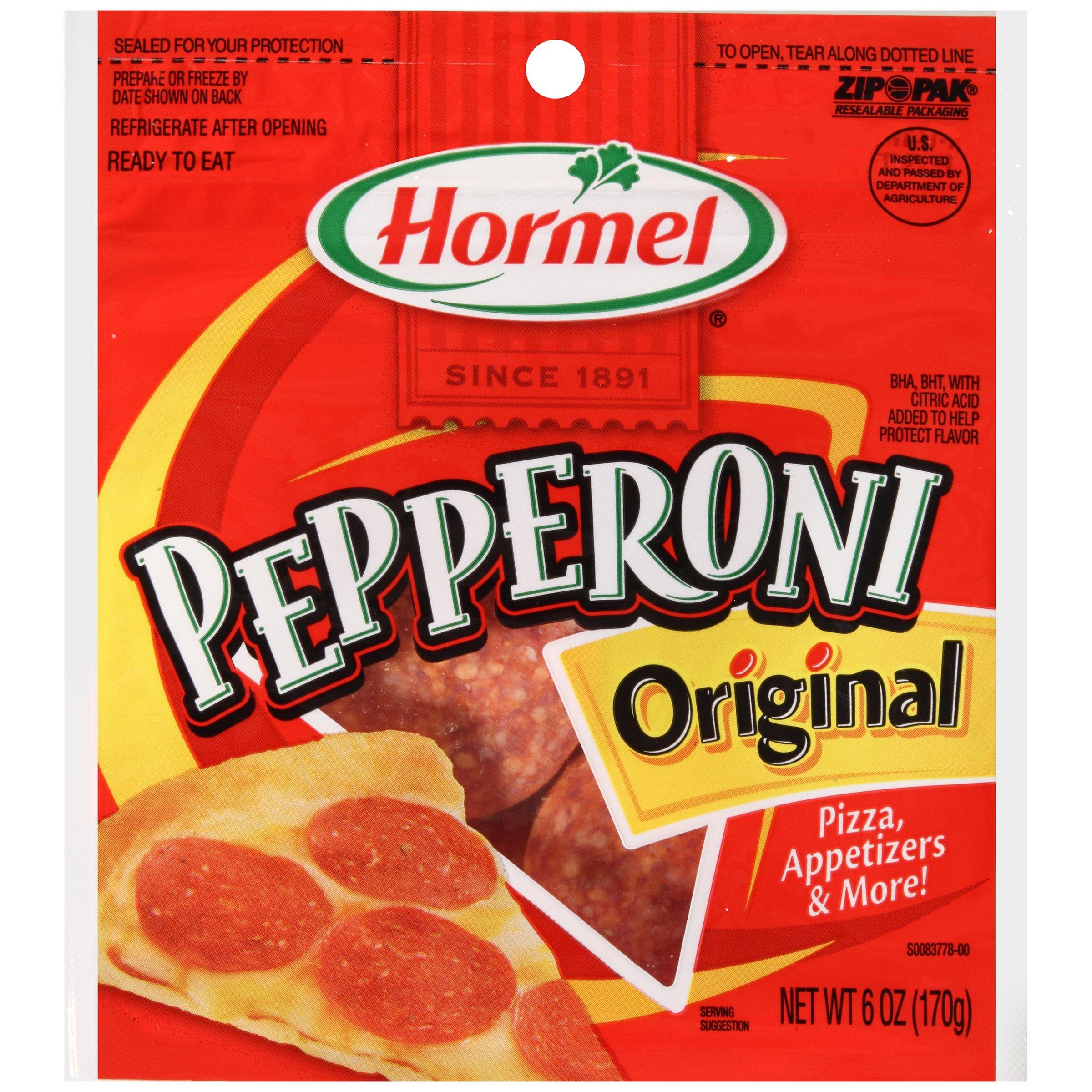 Hormel ORIGINAL PEPPERONI Slices 6oz (2 Pack)