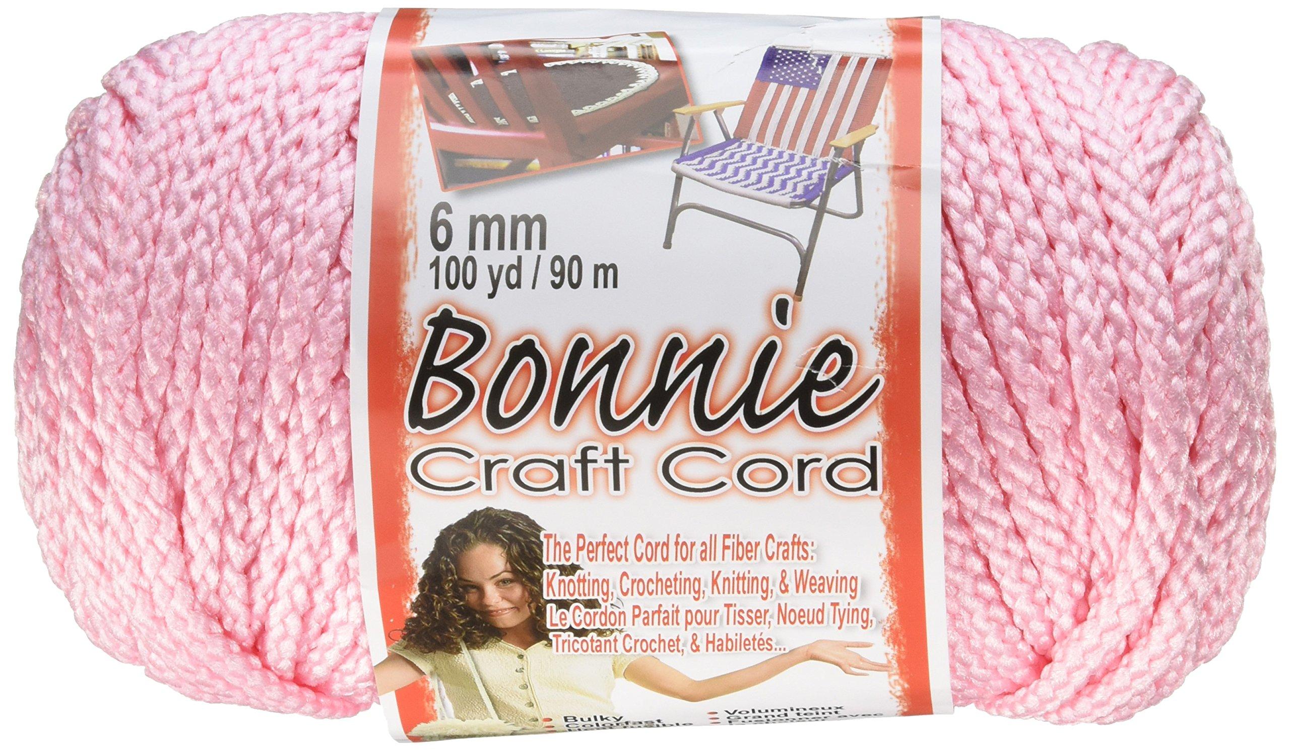 Pepperell 6mm Bonnie Macramé Craft Cord, 100-Yard, Pink