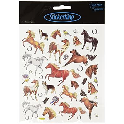 Tattoo King Multi-Colored Stickers-Thoroughbred Horses: Arts, Crafts & Sewing