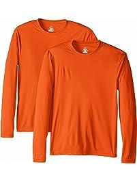 34c693a6 Hanes Men's Long Sleeve Cool DRI T-Shirt UPF 50-Plus