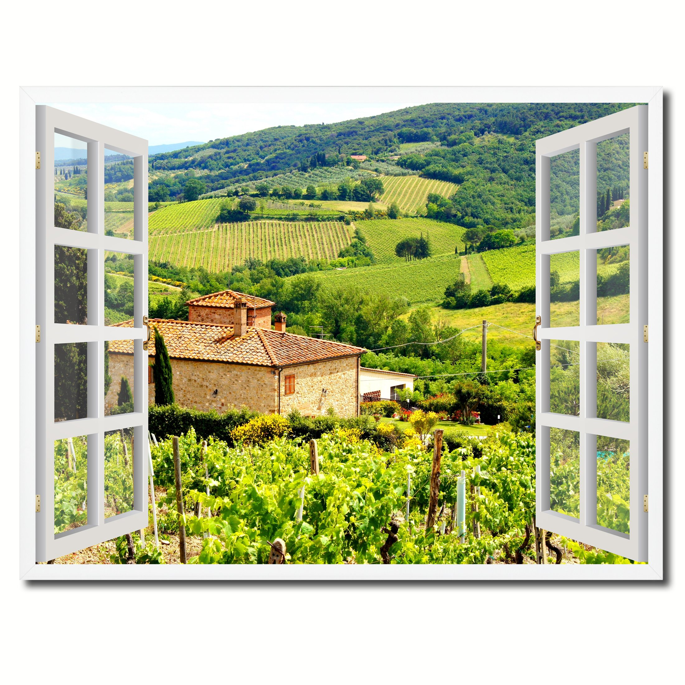 SpotColorArt FRENCHWINDOWH-23035W2229 Handcrafted Framed Canvas Print