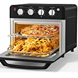 Air Fryer Toaster Oven, Beelicious, 19 Quart Large Countertop Convection Oven, 7-in-1 Toaster Oven Air Fryer Combo, Bake/Broi