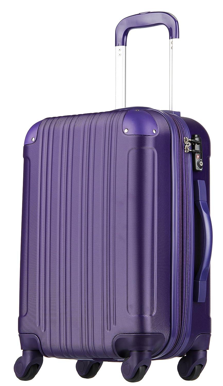 【レジェンドウォーカー】LEGEND WALKER スーツケース 容量拡張 TSAロック 超軽量 マット加工 ファスナー開閉 5082 B01MXDDKMJ Mサイズ(5~7泊/61(拡張時72)L)|パープル パープル Mサイズ(5~7泊/61(拡張時72)L)