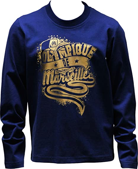 OLYMPIQUE DE MARSEILLE T-Shirt Om Collection Officielle Taille Enfant gar/çon