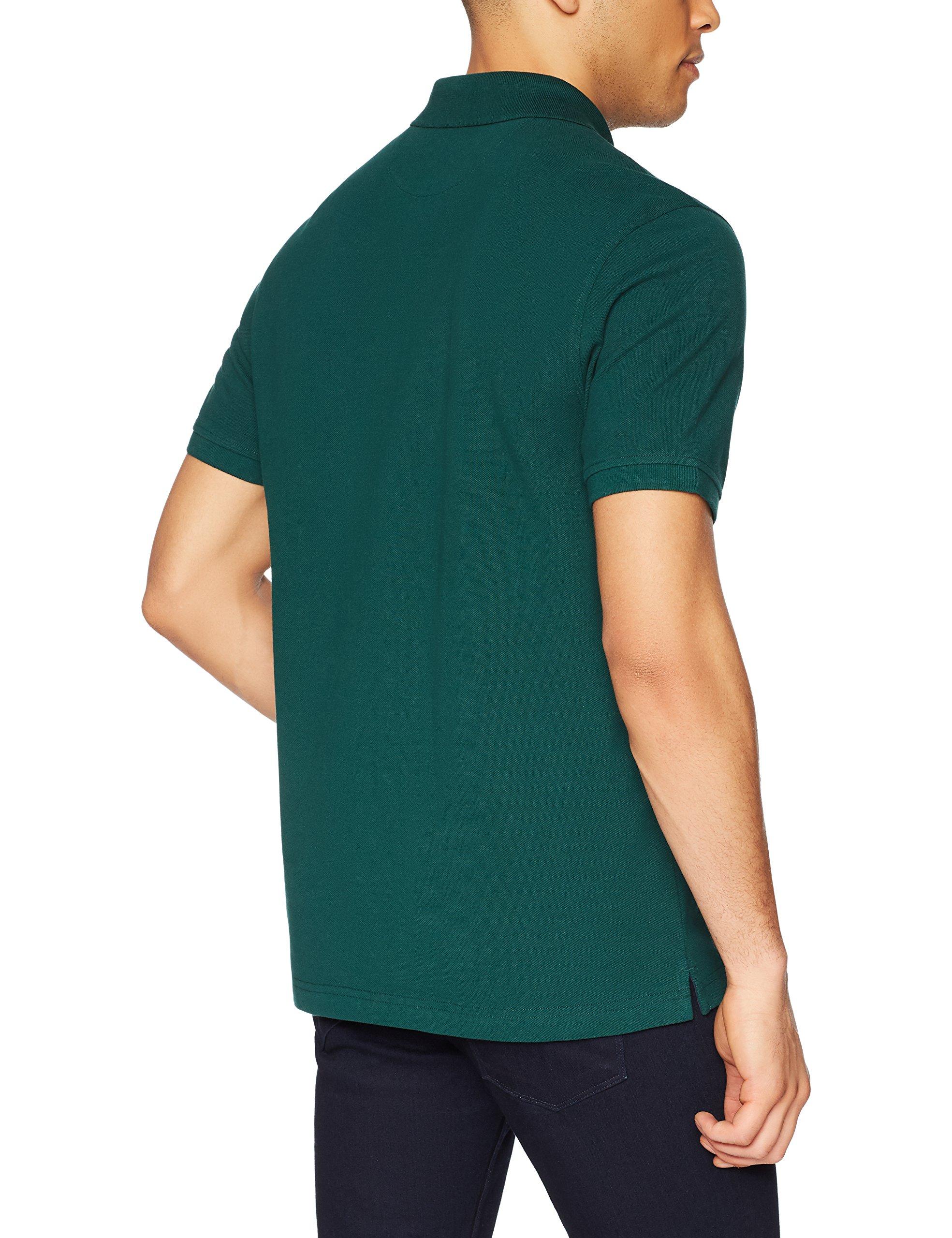 Amazon Essentials Men's Slim-Fit Cotton Pique Polo Shirt, Hunter Green, Large by Amazon Essentials (Image #4)
