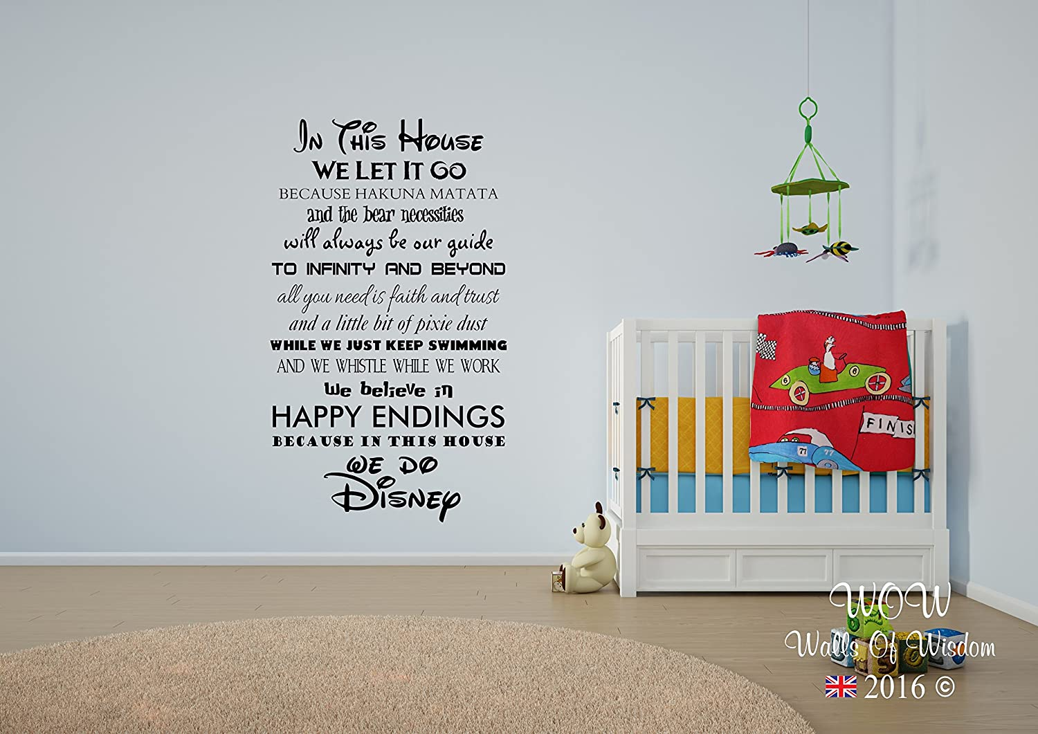 Disney In This House We Do Wall Sticker Wall Art Decal (Black, 120x54cm):  Amazon.co.uk: Kitchen U0026 Home Part 79