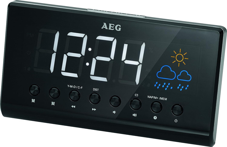 AEG MRC 4141 - Radio reloj (LED, proyección de la hora), color ...