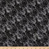 108in Flannel Textured Circles Gray Fabric By The Yard