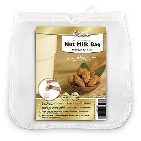 Compra ORBLUE Bolsa de colador de leche de almendra de malla fina ...