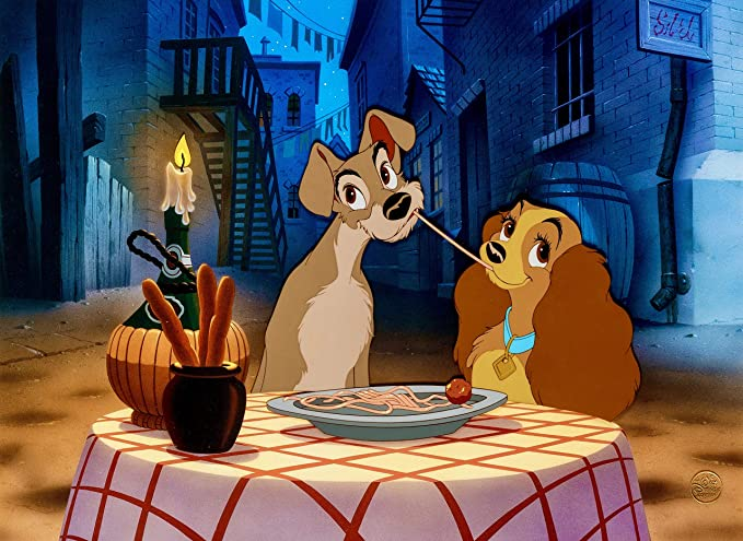 Disney Animation Cel Lady And The Tramp Bella Notte Rare Commemorative Plate At Amazon S Entertainment Collectibles Store
