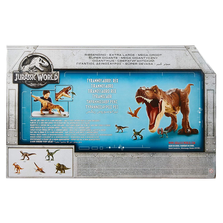 Mattel FMM63 riesiger T-Rex Dinosaurier 90 cm ca Jurassic World Riesendino Tyrannosaurus Rex