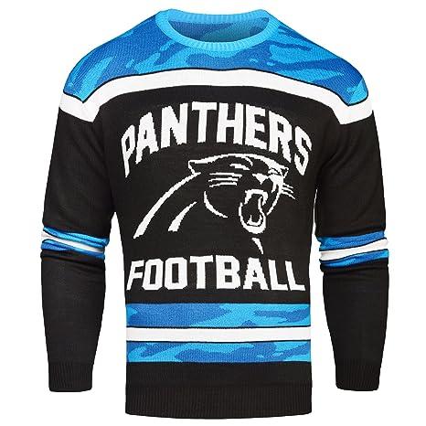 Amazoncom Carolina Panthers Ugly Glow In The Dark Sweater Mens