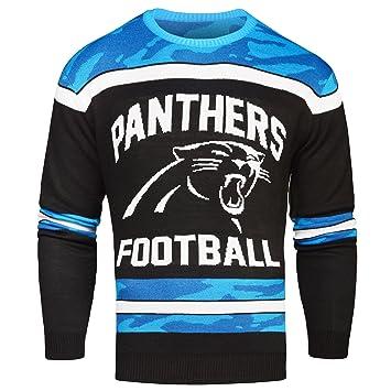 79da4a3f9 Amazon.com   Carolina Panthers Ugly Glow In The Dark Sweater - Mens ...