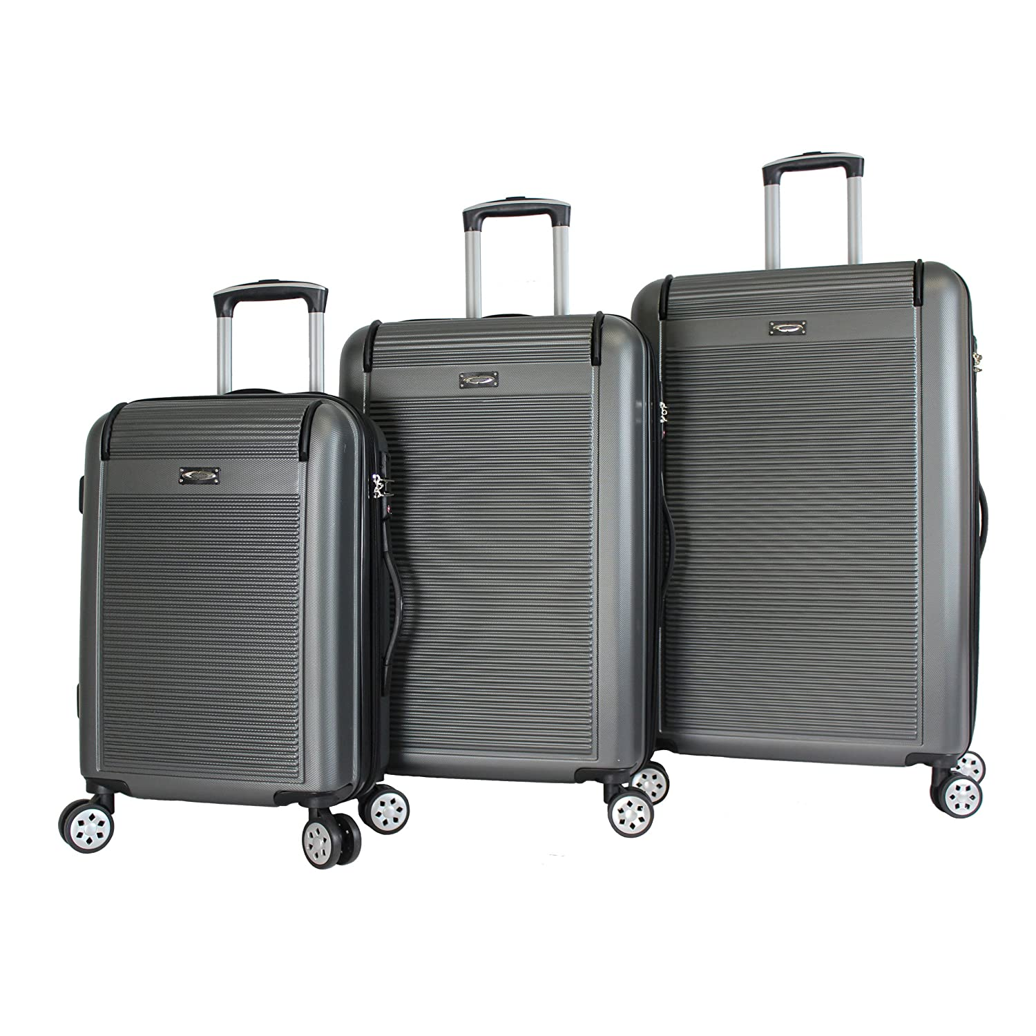 Image of Kemyer 3-Piece Hardside TSA Lock Lightweight Spinner Rolling Luggage Set Luggage