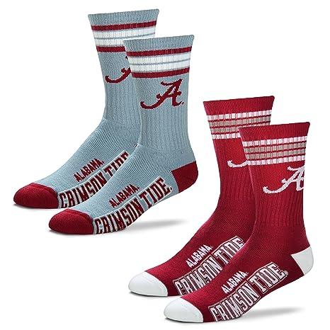 a7e65b87a6dc4 For Bare Feet Men's NCAA (2-Pack)-4 Stripe Deuce Crew Socks