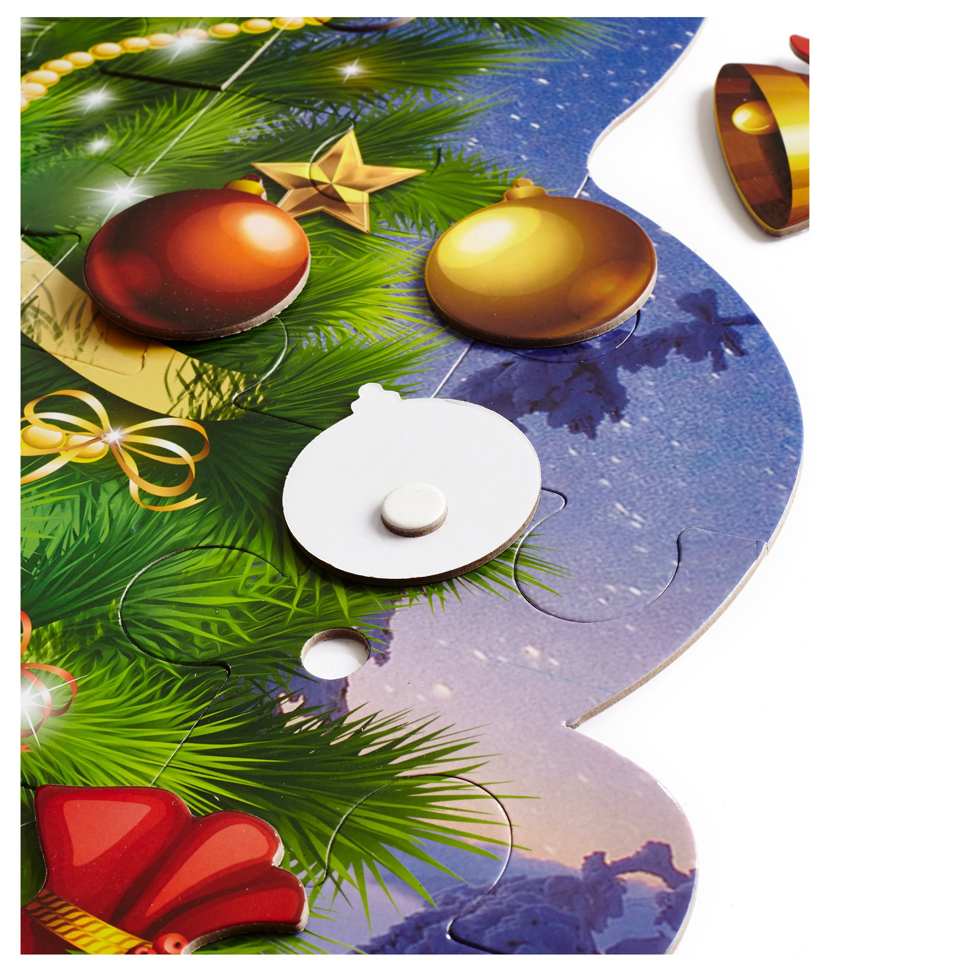 Educational Christmas Tree Floor Puzzle +29PC Ornaments kit -Let Your Children Decorate Their Own Tree -Puzzles For Kids 4 Years Old Will teach to follow design & coordination-not trail & error method by Mind Tools (Image #1)